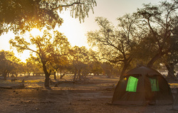 Tent in Sunset FAQs Khangela Safaris Zimbabwe